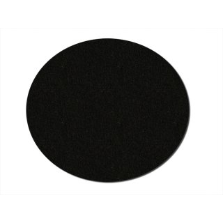 Filzuntersetzer rund 10 cm schwarz