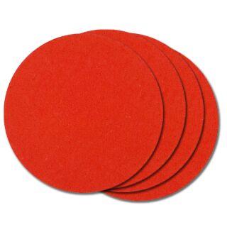 Filzuntersetzer rund 10 cm rot, 4 Stück