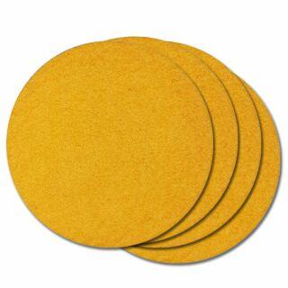 Filzuntersetzer rund 10 cm gelb, 4 Stück